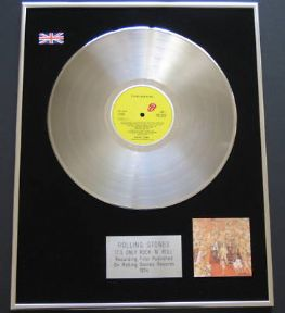 ROLLING STONES - It's Only Rock 'N' Roll PLATINUM LP presentation Disc
